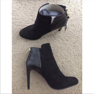 Zara black two tone heeled boots
